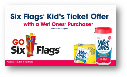 Six Flags and Wet Ones Offer