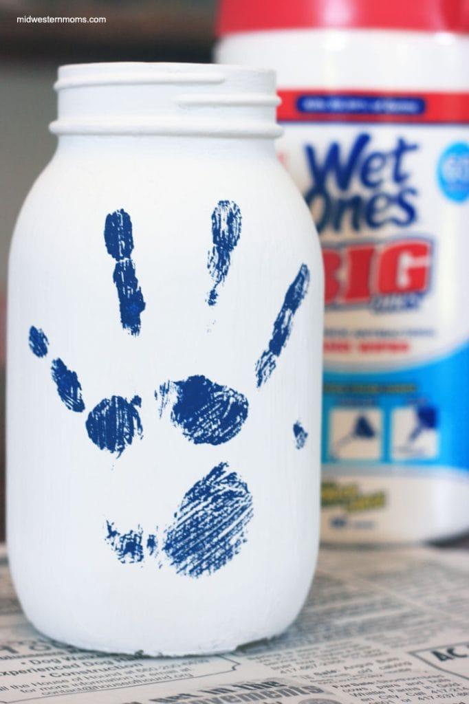Jar with Handprint on it