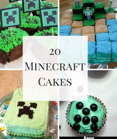 20 Minecraft Cake Recipes perfect for your next Minecraft themed party!
