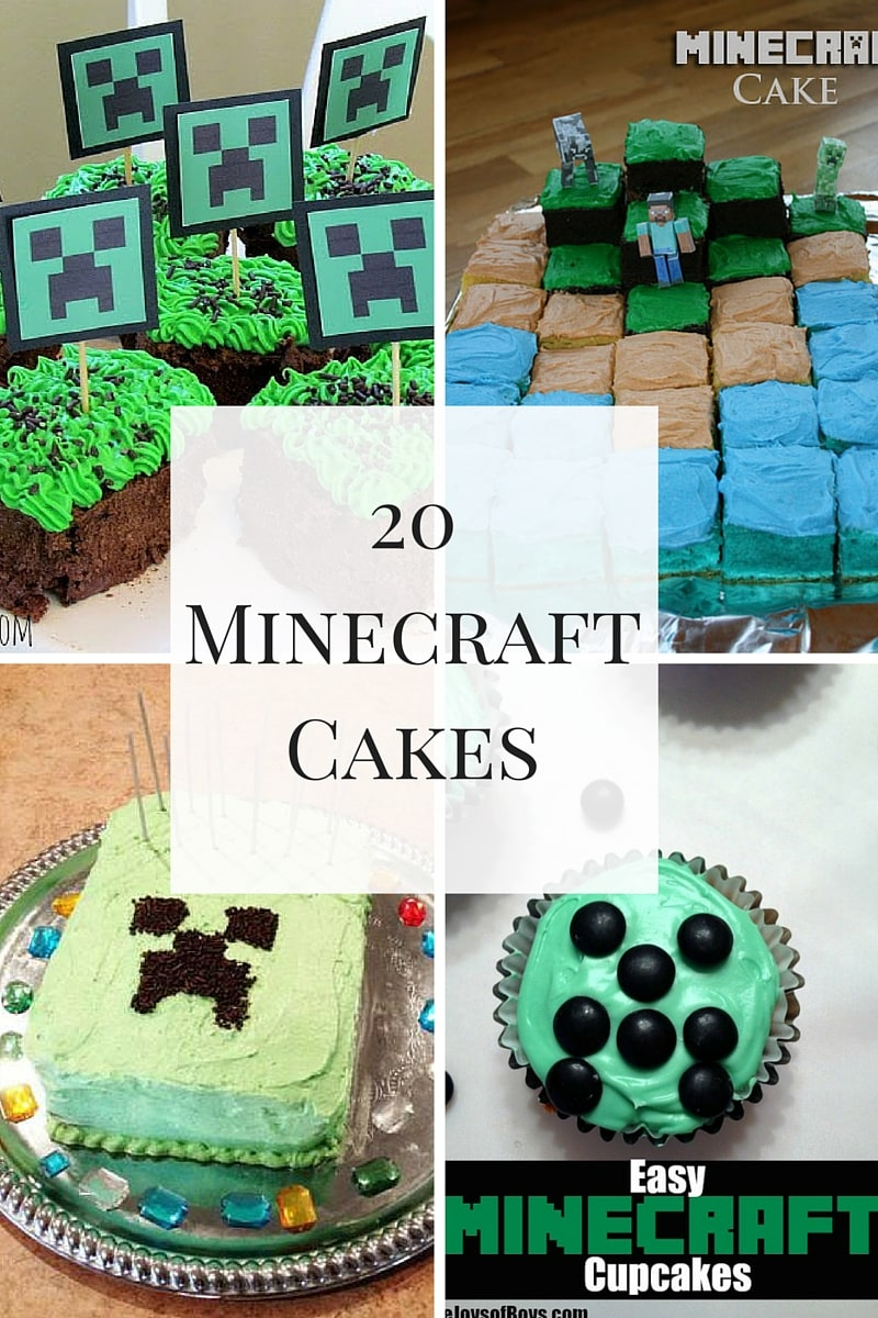 20 Minecraft Cakes perfect for your next Minecraft themed party!