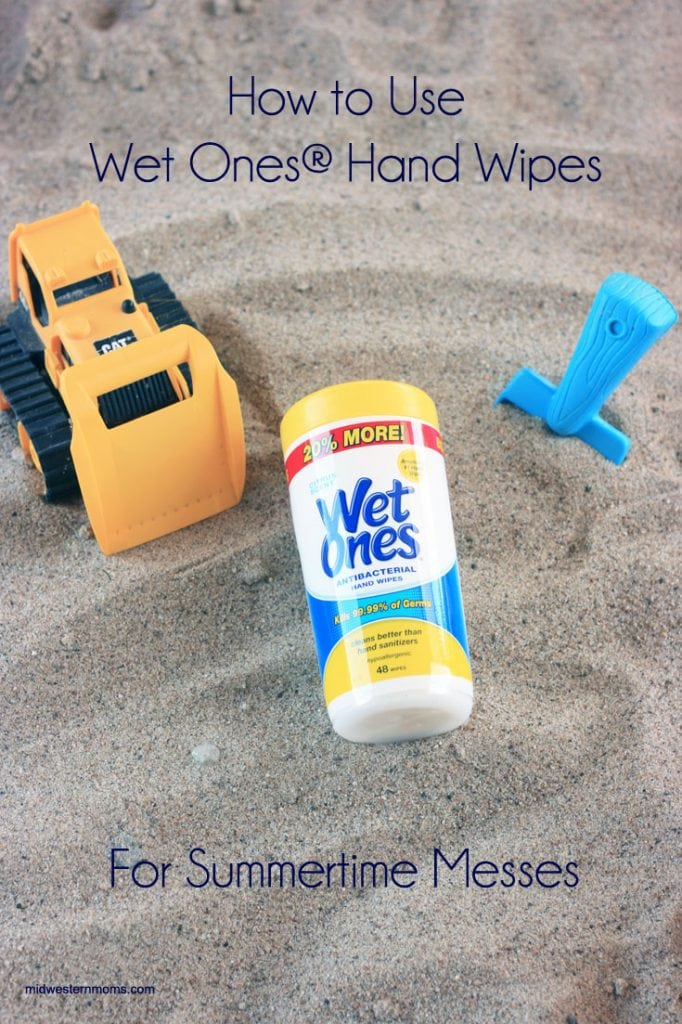 Summertime is fun time, and that means lots of fun messes. Check out these tips for using Wet Ones Hand Wipes to clean up with.