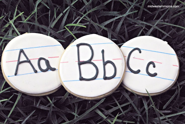 The cutest handwriting cookies for back-to-school!
