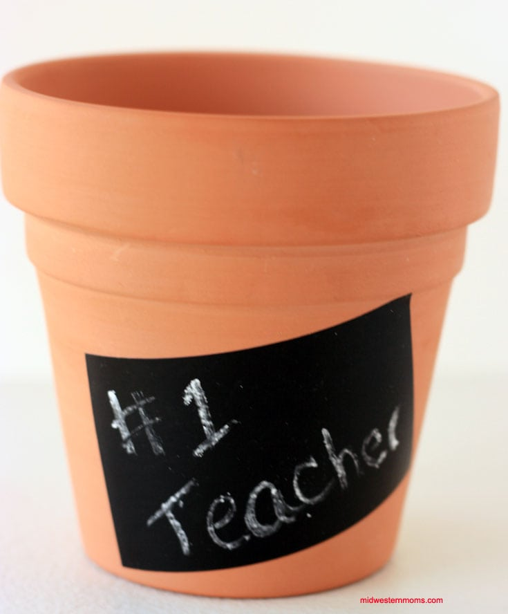 Adding a message to the pencil holder is next