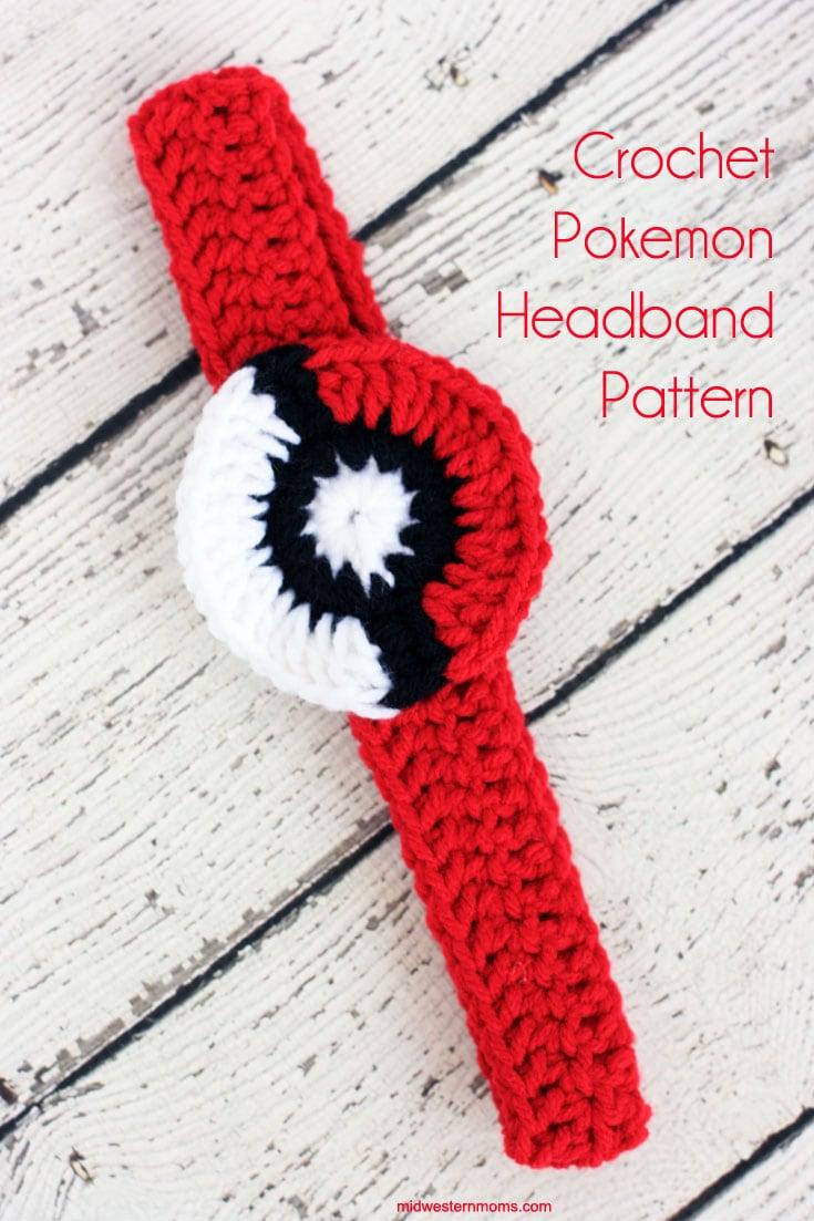 Super cute Crochet Pokemon Headband. Free Pattern!