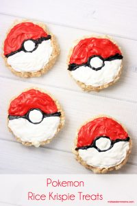 Simple Pokemon Rice Krispie Treats! These are perfect for fueling the hunting!