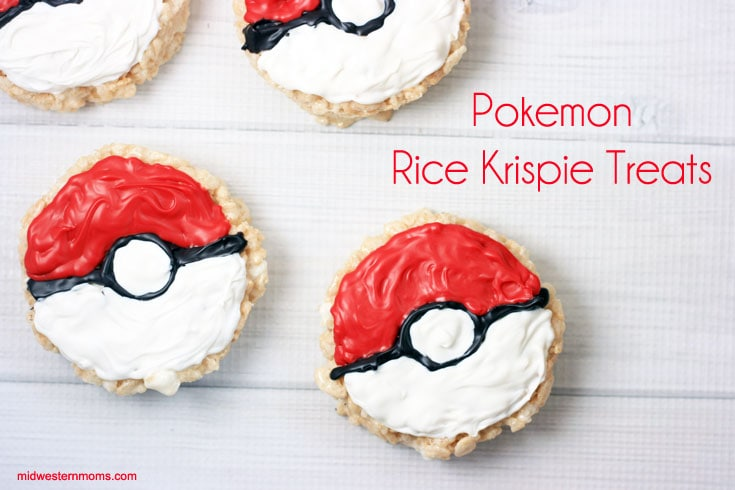 Simple Pokemon Rice Krispie Treats