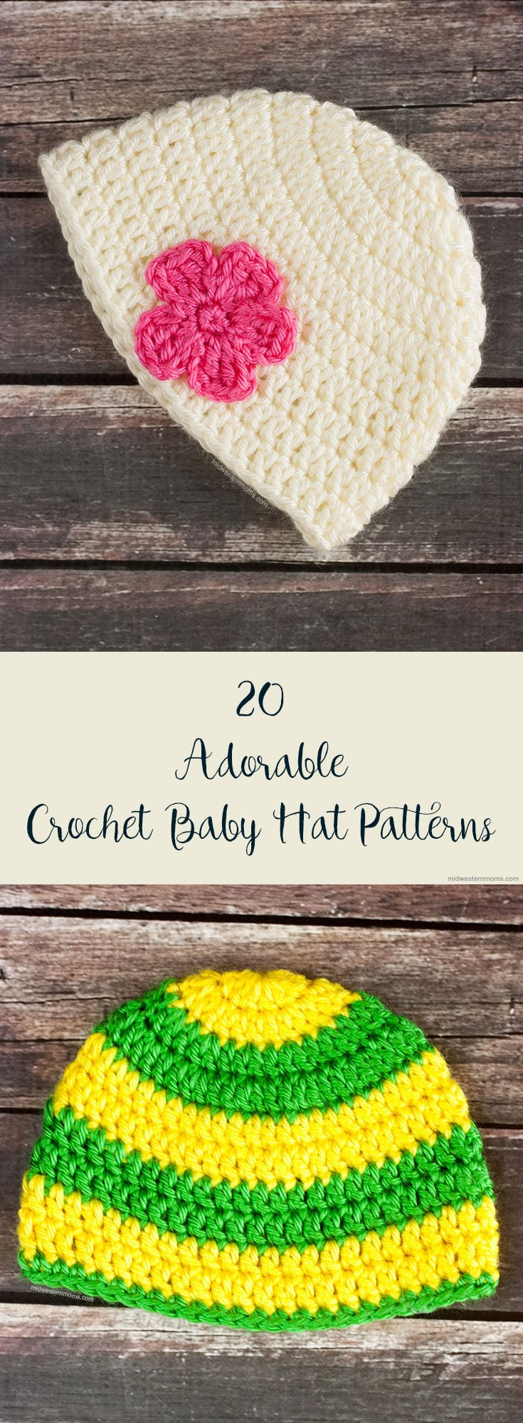 Searching for adorable free crochet baby hat patterns? These baby hat patterns are sure to make everyone go