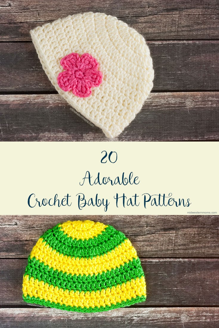 7d2af055b 22 Adorable Free Crochet Baby Hat Patterns