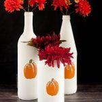 DIY Painted Pumpkin Bottles