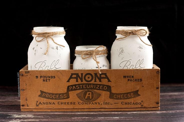 mason jars in box