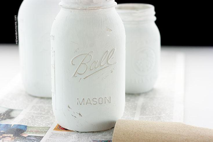 sanded mason jars