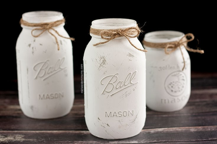 twine added to mason jars