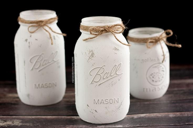 twine added to mason jars