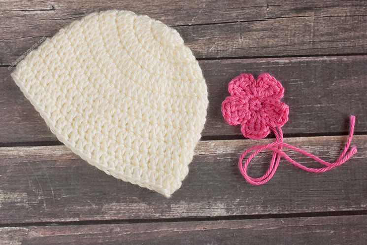 Simple Crochet Baby Hat - Pieces