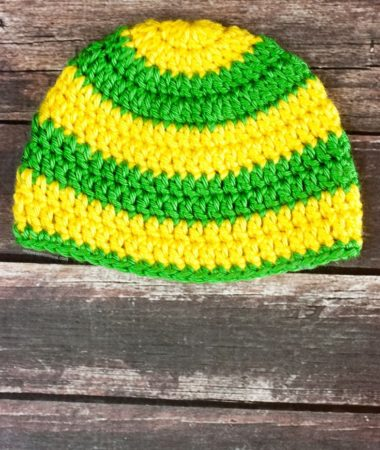 Simple Striped Crochet Baby Hat Pattern