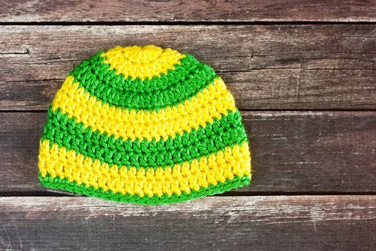 Striped Crochet Baby Hat Pattern