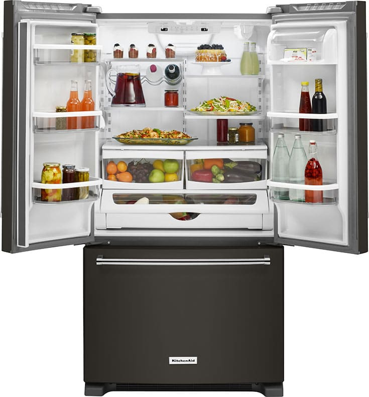 KitchenAid Black Stainless Refridgerator