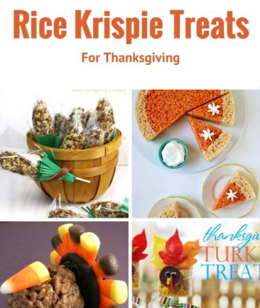 Best Rice Krispie Treats for Thanksgiving