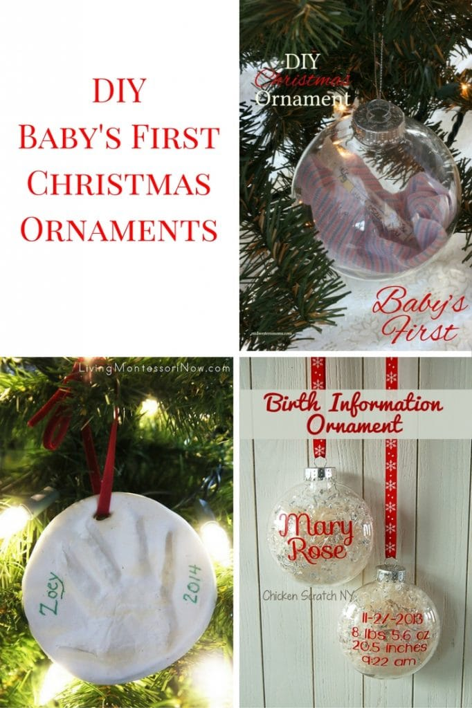 DIY Baby's First Christmas Ornaments