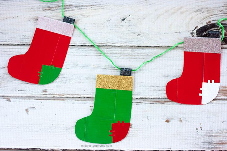 DIY Christmas Duck Tape Stocking.