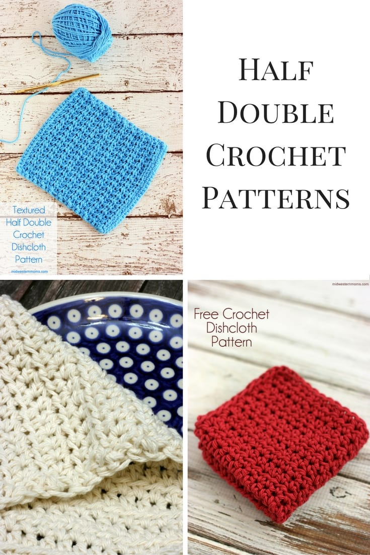 Great list of free crochet patterns that use the half double crochet stitch