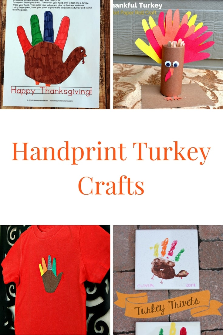 Handprint Turkey Crafts: Fun kids crafts to celebrate Thanksgiving