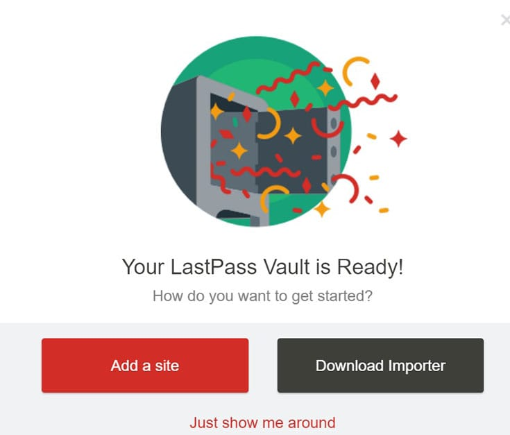 LastPass all set up!