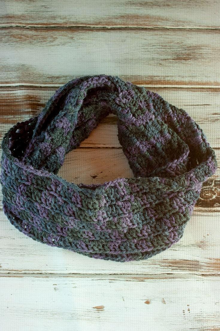 Primrose Crochet Stitch Infinity Scarf