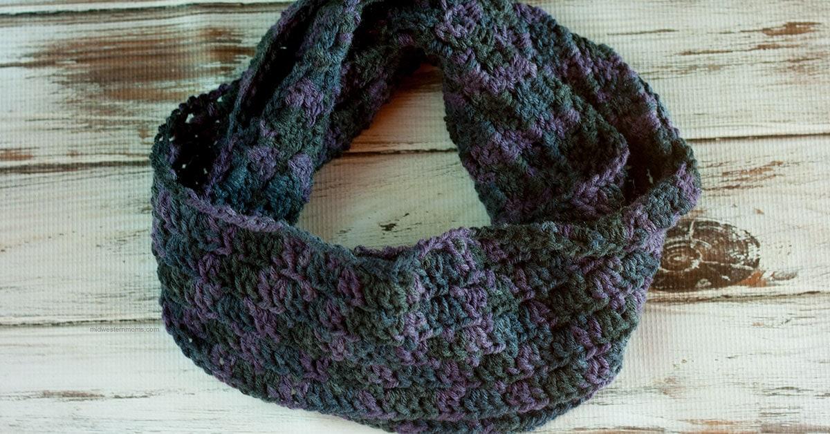 Primrose Crochet Stitch Infinity Scarf Pattern