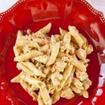 Delicious Cajun Chicken Alfredo that is full of flavor and easily made in the slow cooker!