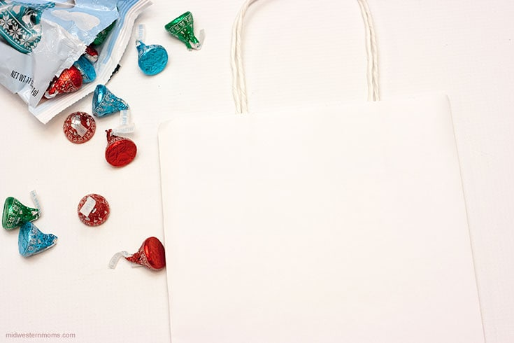 Getting started making an ugly sweater gift bag
