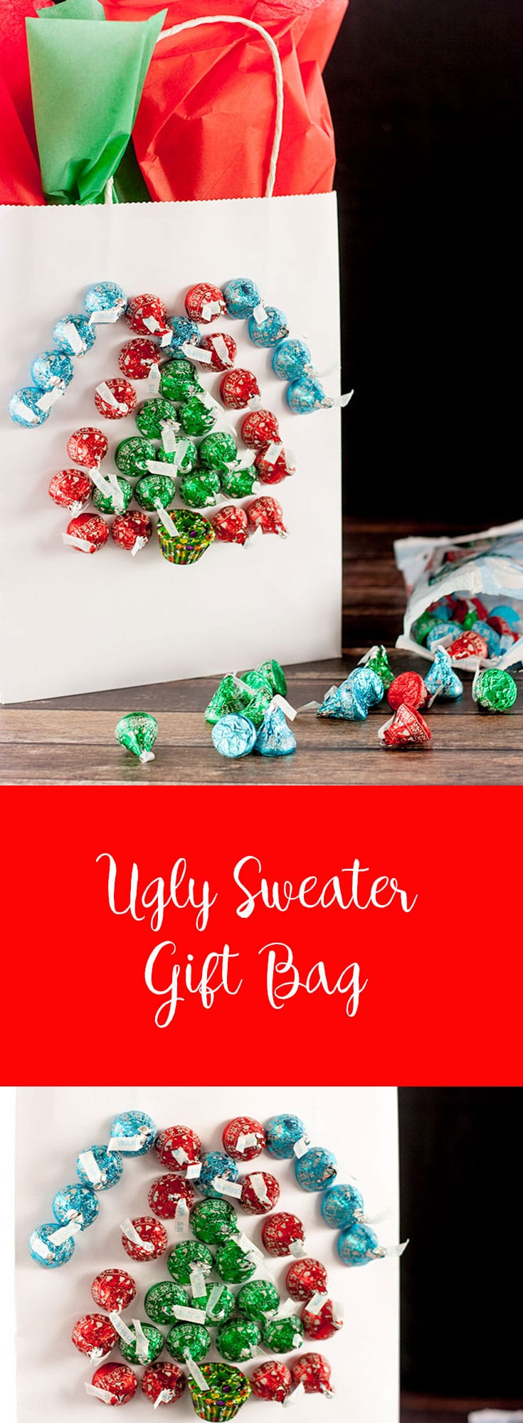 What better way to celebrate Ugly Sweater Day than with an Ugly Sweater Gift Bag and Chocolates!