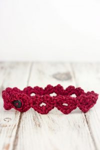 Crochet Heart Headband Pattern
