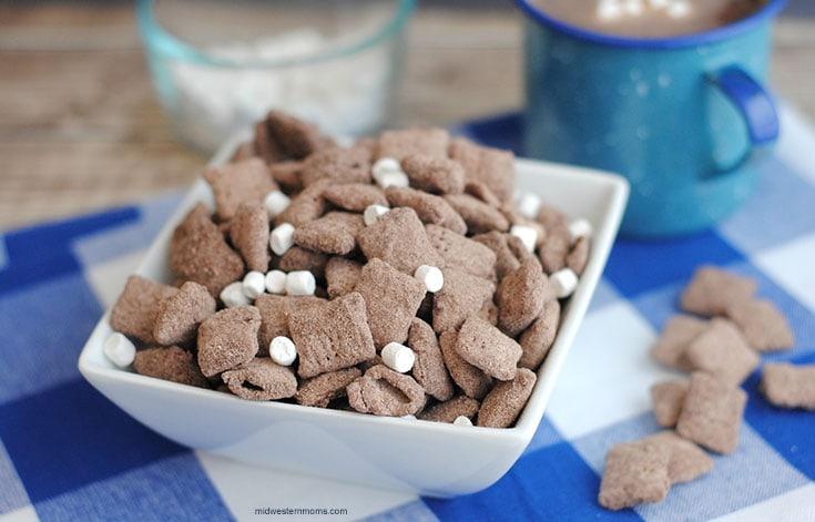 Hot Cocoa Puppy Chow Recipe