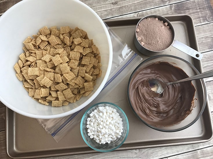 Hot Cocoa Puppy Chow - Ingredients