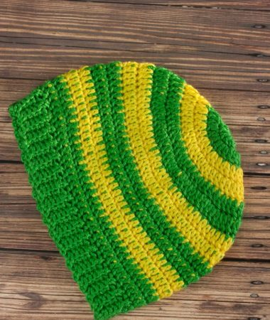 Simple Stripe Crochet Beanie Hat Pattern