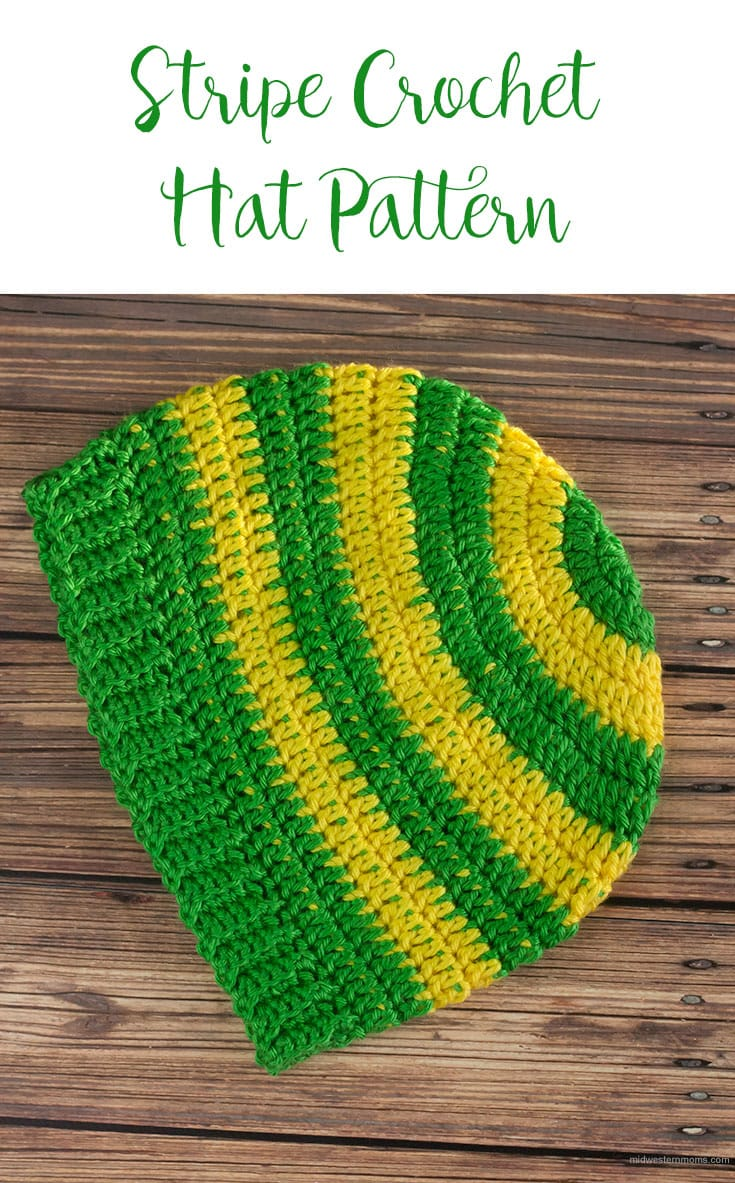 Stripe Crochet Beanie Hat Pattern