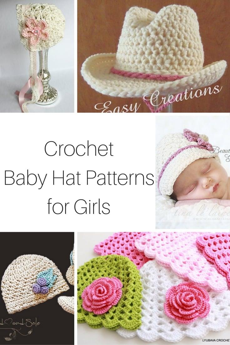 Crochet Baby Hats for girls