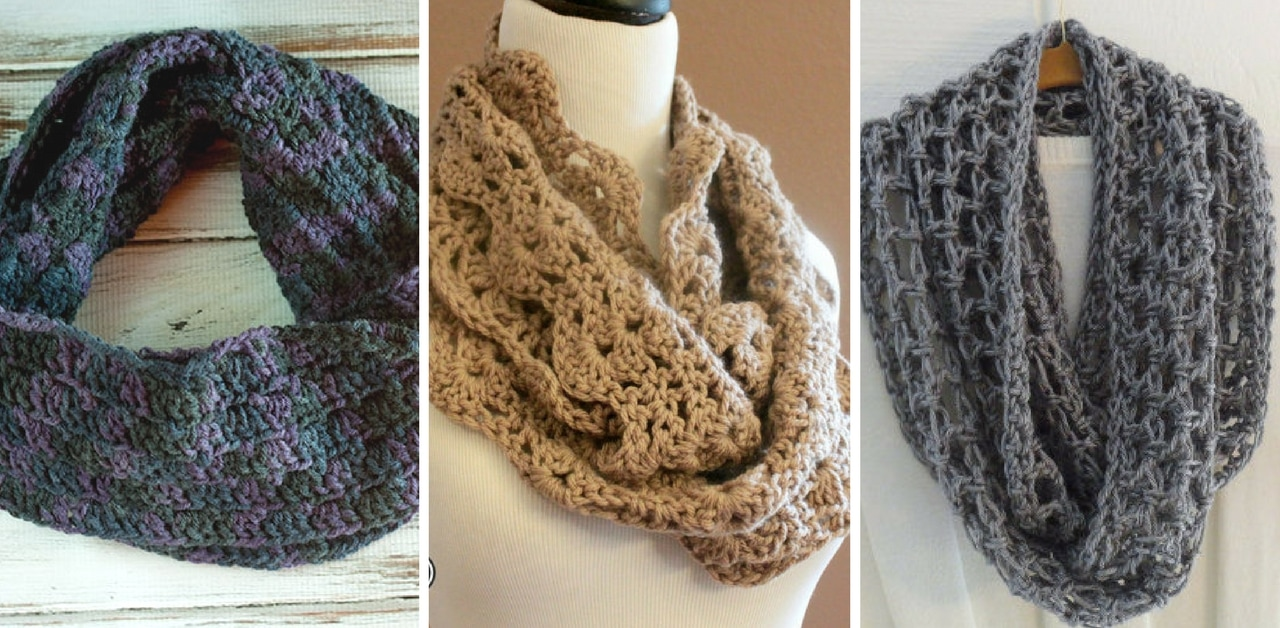 19 Crochet Infinity Scarf Patterns