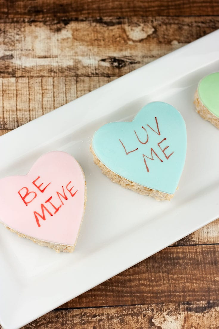 Conversation Heart Rice Krispie Treats
