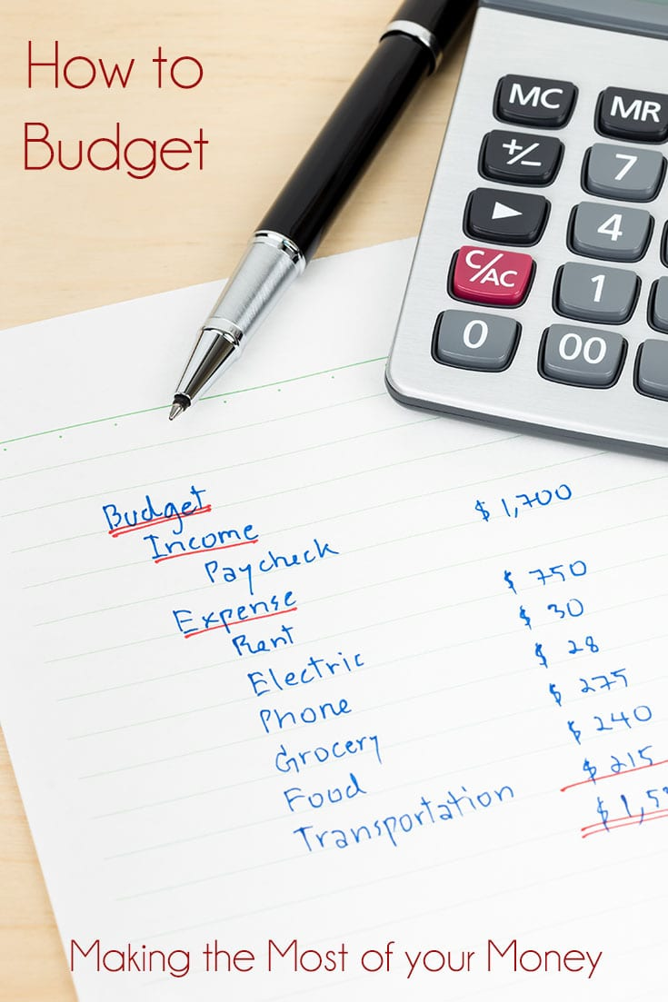 How to budget - Making the Most of your Money