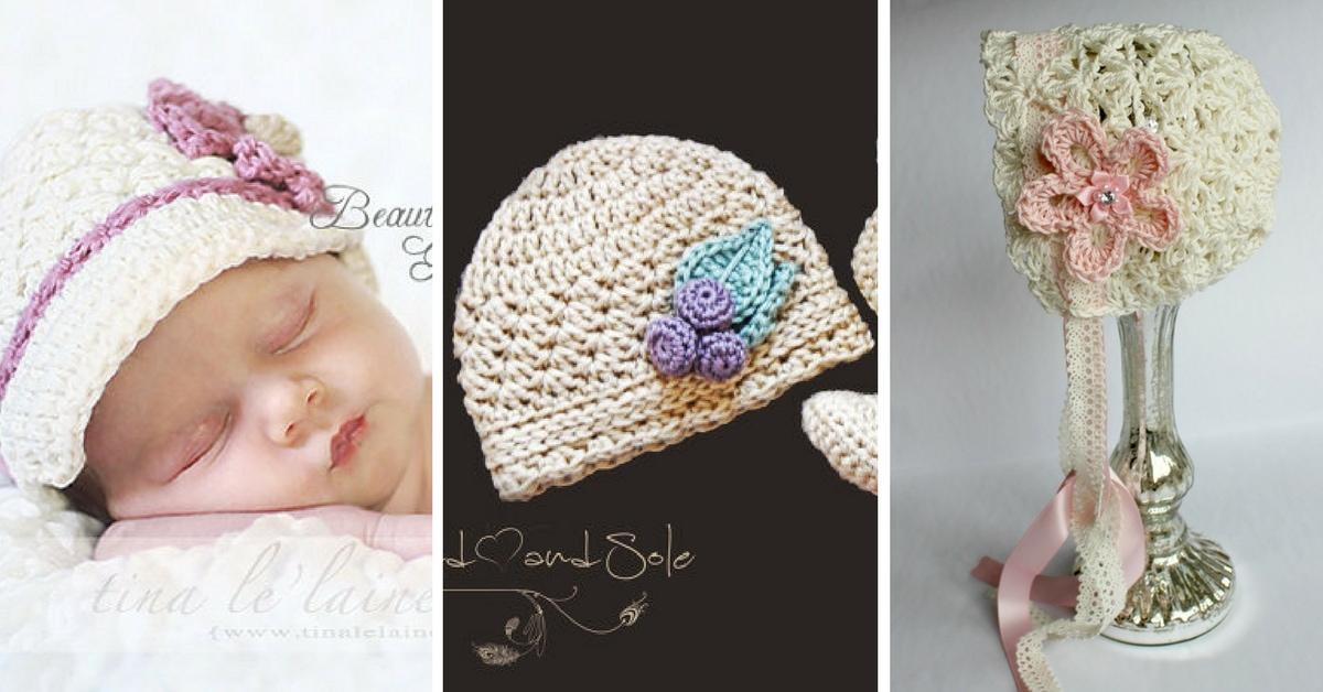 20 Crochet Baby Hat Patterns For Girls