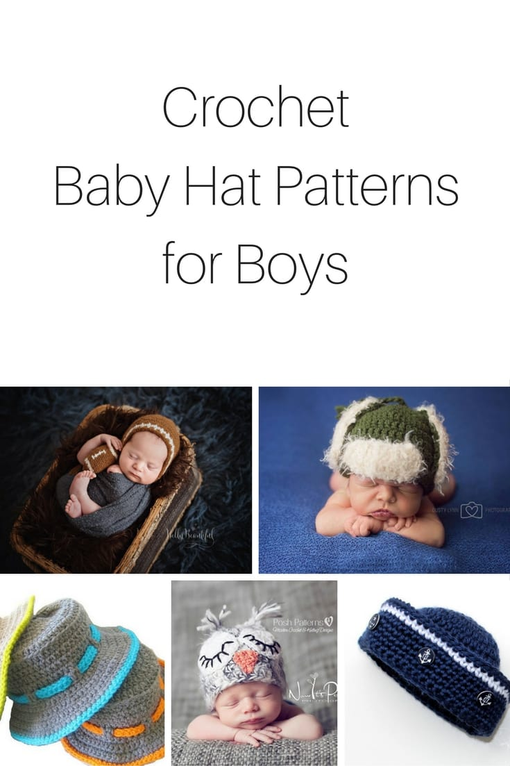 7e65afb15b4 20+ Crochet Baby Hat Patterns for Boys