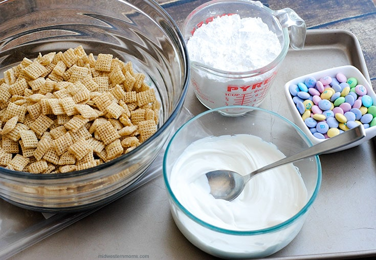 Easter Puppy Chow Ingredients