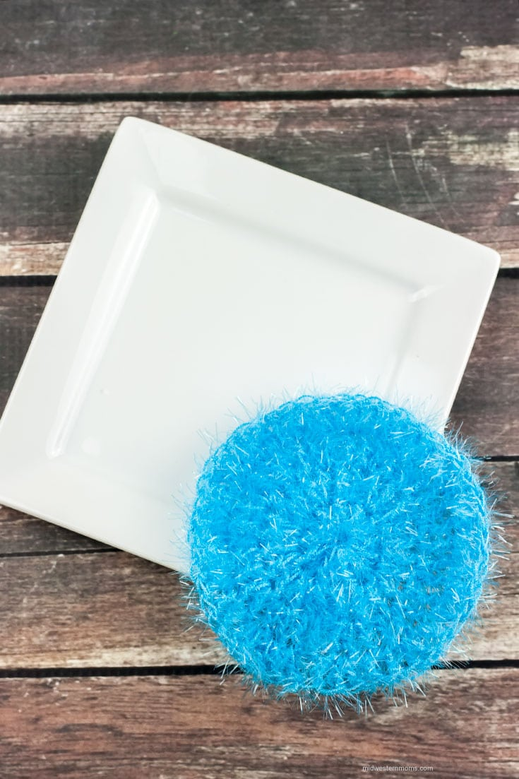 Simple Round Dish Scrubbie Pattern