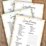 Printable Spring Cleaning Checklists