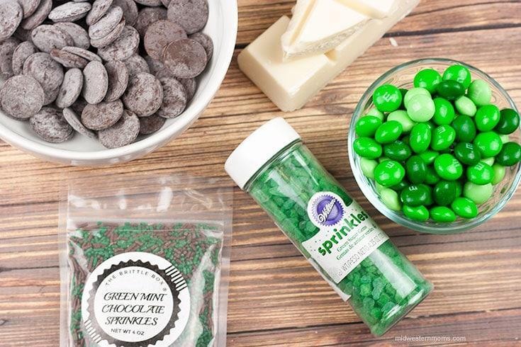 St. Patrick's Day Bark Ingredients