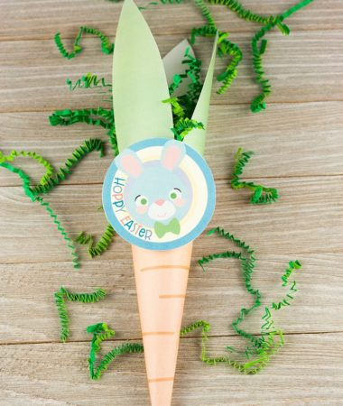 Easter Carrot Cone Treat Bag Printable