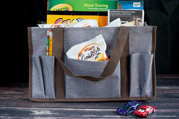 Travel pack with snacks