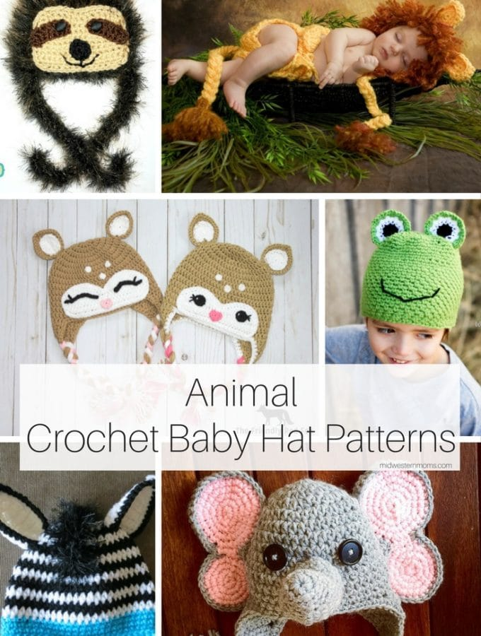 Animal Crochet Baby Hat Patterns